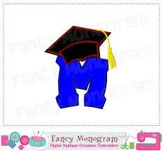 monogram graduation cap cap clipart letter m