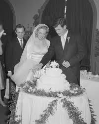 at their november 29 1958 nuptials ted and joan kennedy cut into