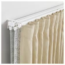 Fitting Curtain Track Vidga Single And Triple Track Set White Ikea