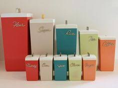 retro kitchen canisters canisters a second set kitchen canisters retro and kitchens