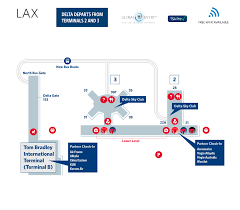 lax gate map los angeles international airport terminal map lax delta air lines