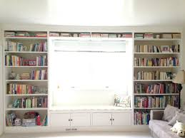 How To Build Bookshelves Built In Bookshelves With A Window Seat How To Build A Diy Floor
