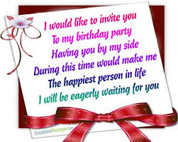 birthday text invitation messages birthday invitation messages occasions messages