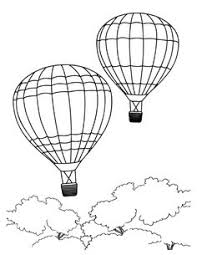 air balloon printable digital images birds cards http
