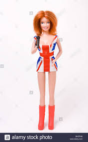 British Flag Dress Geri Halliwell Doll Wearing That Dress The Union Jack Dress Stock