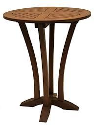30 round bar table amazon com outdoor interiors eucalyptus 30 inch diameter round bar