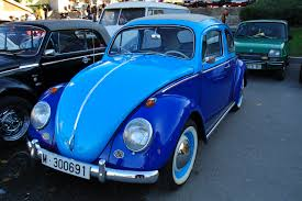 volkswagen bug blue barcelona photoblog classic cars beetle vw in blue