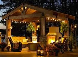 images of outdoor string lights amazing pergola with stylish fireplace and perfect outdoor string