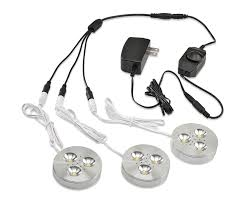 puck under cabinet lighting ledquant set of 3 led dimmable under cabinet lighting kit 3watt led