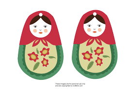 matryoshka russian doll ornament group crafts craftbits com
