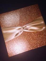 rose gold glitter and foil wedding invitation classic glam