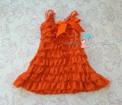 Thanksgiving Dress Baby Fall Orange Petti Lace Dress Ruffle Dress Baby Dress