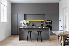 Grey Kitchen Island Dining Chair Minimalist Kitchen Island Wooden Shelves Grey And