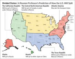 map usa russia russia predicts usa breakup into smaller countries new map shows