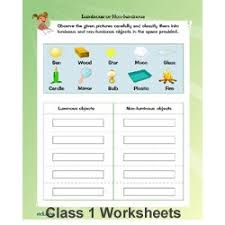 best solutions of free evs worksheets for class 1 for download