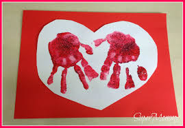 easy kid u0027s valentine u0027s day handprint heart cards