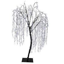 8 pre lit willow tree outdoor yard decoration