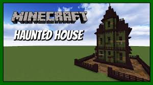 minecraft how to build haunted house tutorial youtube