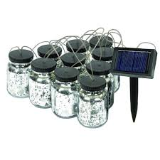 solar string lights 5503 10 malibu black solar jar string lights usalight