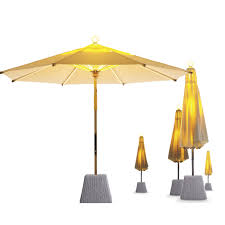 Aluminum Patio Umbrella by Brass Patio Umbrella Aluminum With Built In Light Ni Parasol