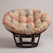 furniture wicker chair cushion papasans pier 1 papasan