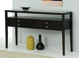 Foyer Table With Drawers Espresso Console Table Foyer Entryway Sofa Hallway Modern Accent