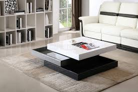 cw01 rotary coffee table in white grey dark grey lacquer