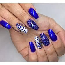 blue coffin nails margaritasnailz pinterest coffin nails