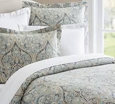 How To Change A Duvet Cover Mackenna Paisley Duvet Cover U0026 Sham Blue Pottery Barn