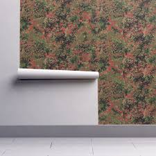 camo home decor flecktarn camo in swiss colorway wallpaper by ricraynor roostery