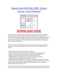 2011 ford fiesta service manual nissan pulsar n13 1987 1990 service manual free download by
