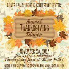 annual thanksgiving dinner silver falls lodge travel salem