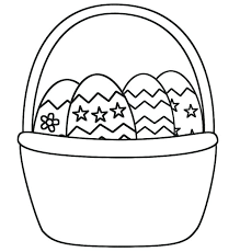 blank easter baskets basket picture coloring page batch blank easter murs org