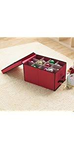 stor ornament storage chest with dividers holds