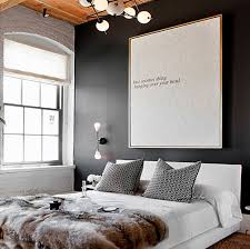 black patterned cushions bedroom black wall patterned cushions lettered wall art white