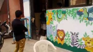 preschool outside wall theme painting mumbai india youtube preschool outside wall theme painting mumbai india