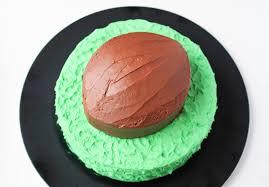 football cake how to make a football cake easy 6 step tutorial