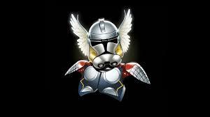 marvel comics star wars storm trooper thor minimalistic wallpaper