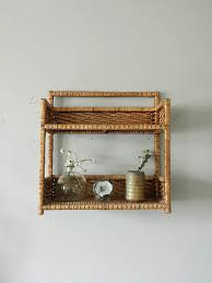 Wicker Bathroom Wall Shelves Wicker Shelf Wall Shelves Rattan Shelf Hanging Shelves Bathroom
