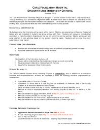 resume for nursing internship sle objectives for resumes students resume exles internships intern