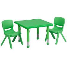 adjustable height kids table amazon com flash furniture 24 square green plastic height