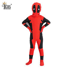 Anime Costumes Halloween Aliexpress Buy Deadpool Costume Kids Cosplay Costumes