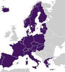 European Union Countries Map by The Schengen Area Immigration And Naturalisation Service Ind
