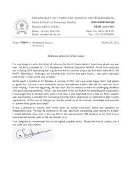 Email Template Asking For Letter Of Recommendation by Recommendation Letter Prof G Sivakumar H O D Cfdvs Iit Bombay