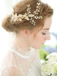 vintage bridal hair gold bridal comb wedding comb vintage comb flower comb gold