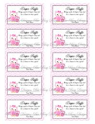 printable pink mom with little owl diaper raffle tickets bee