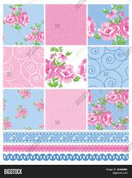 Shabby Chic Quilting Fabric by Shabby Chic Country Floral Vector Seamless Patterns Use To Make