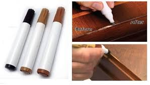 Wood Floor Scratch Repair 3pcs Furniture Touch Up Pens Markers Laminate Wood Floor Scratches