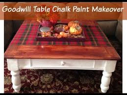 chalk paint coffee table goodwill table chalk paint makeover thrift store furniture youtube