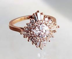 42 charming rose gold art deco engagement rings in italy wedding